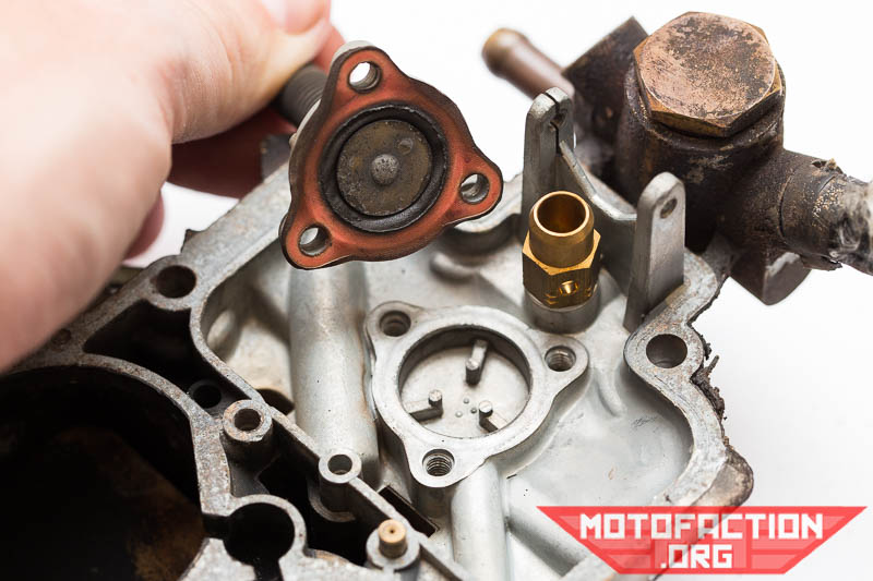 How to assess and remove the carburetor power valve - Weber