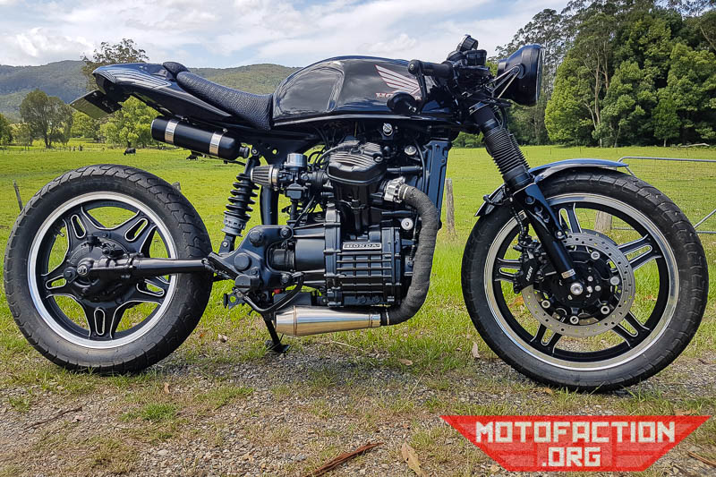 Todays Honda CX500 Cafe Racer Featured Build Is The Half Millenium Falcon Done By Ken
