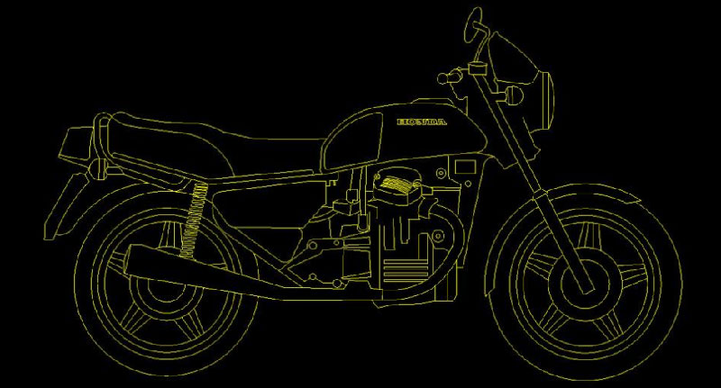 CAD 2D and 3D files - Honda CX500, GL500, CX650, GL650 | MotoFaction