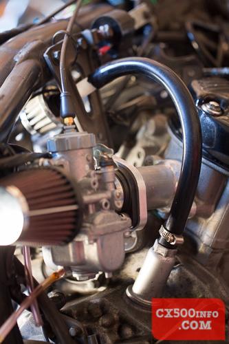 Crankcase breathers and pod filters - Honda CX500, GL500