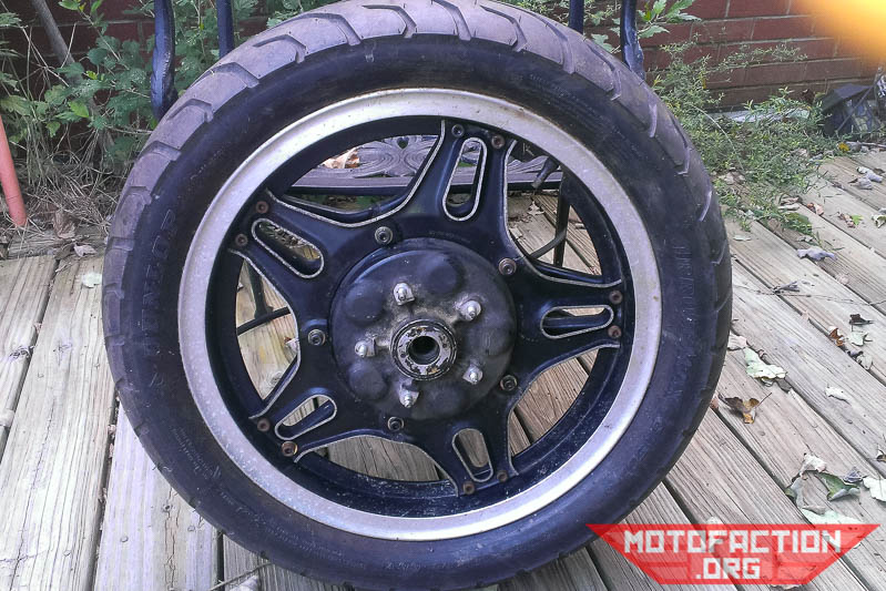 How to get a 17-inch rear wheel on a Honda CX500, GL500