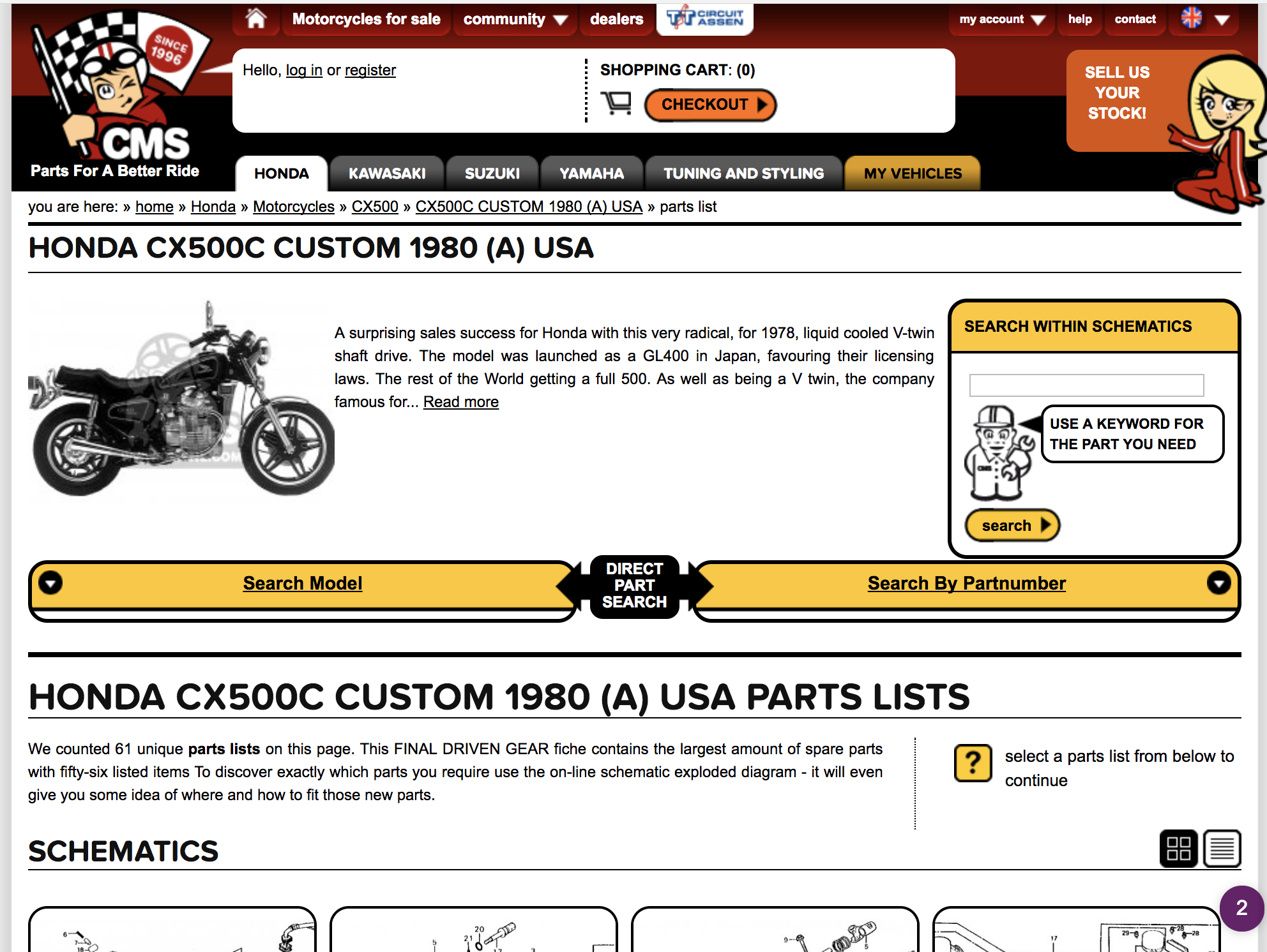 How to identify and find parts and part numbers for your motorcycle