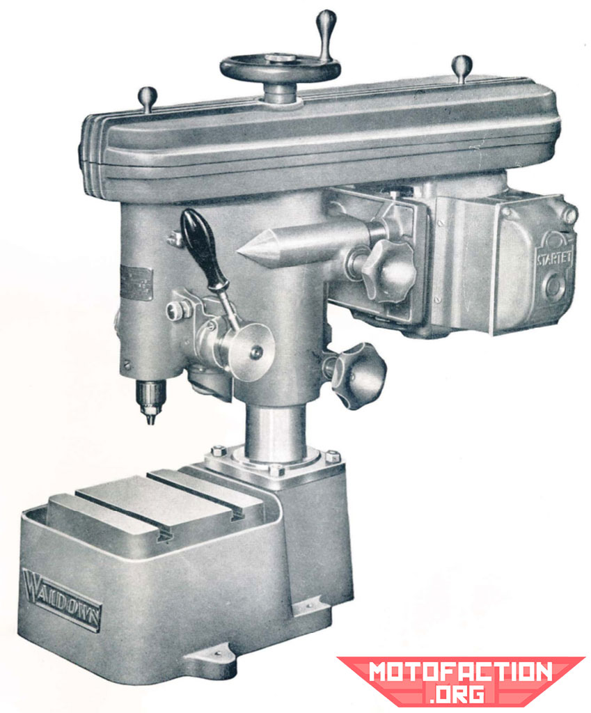Here is a photo of a precision, high speed Waldown drilling machine, shown in a McPhersons brochure from 1951