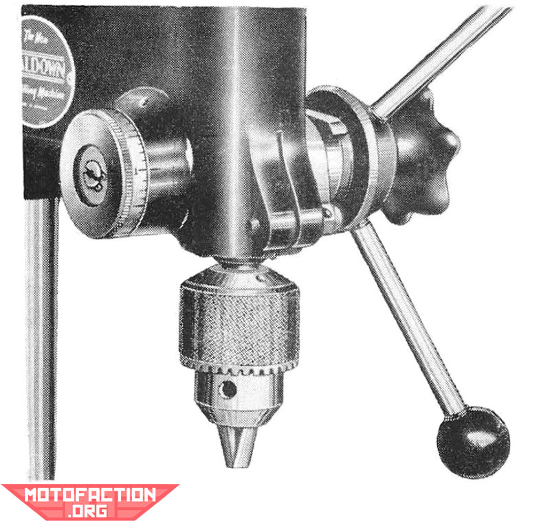 Here is a photo relating to a Waldown half-inch industrial drill press, shown in a Waldown brochure from 1954. It is an Australian made unit.