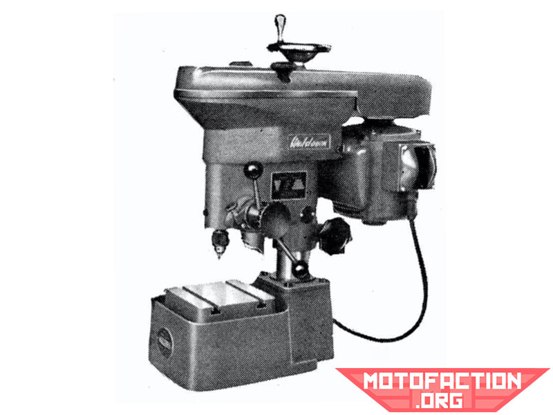 Here is a photo of a precision Waldown drilling machine, shown in a McPhersons brochure from 1966