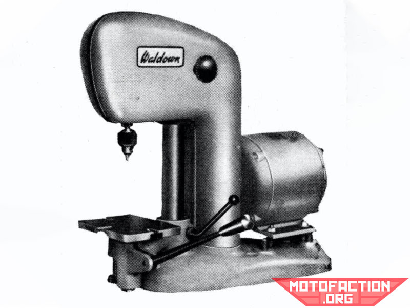 Here is a photo of a half-inch radial Waldown drill, shown in a McPhersons brochure from 1966