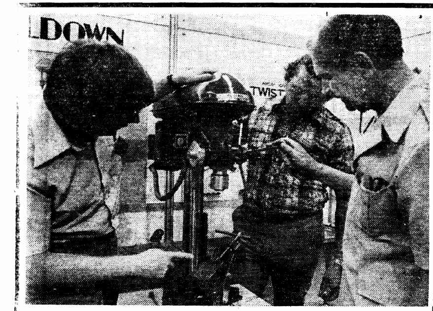 Here is a photo of the Waldown Machine Tools Pty Ltd general manager in 1978, at an exhibition in Papua New Guinea.
